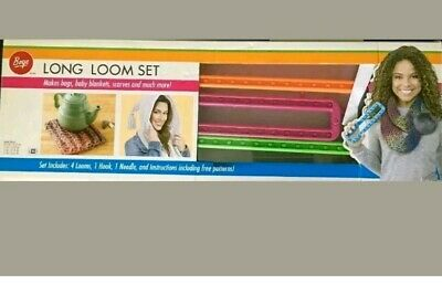 New Boye Long Loom Set 6 Pieces Instructions & Patterns