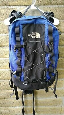 Vintage The North Face Travelling Hiking Backpack Blue Black TNF
