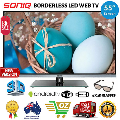 Soniq 55 inch E55S14A FHD LED LCD 3D Smart TV Android Jelly Bean & Built In WiFi