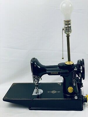 Vintage SINGER Featherweight Portable Sewing Machine Lamp