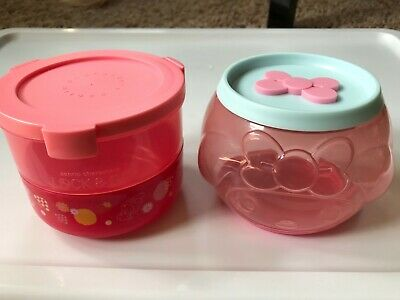 Set of 10 HK 7-11 Sanrio Characters Lock /& Go Round /& Double-layer Container
