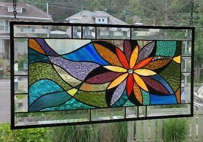 **STAR LIGHT...STAR BRIGHT**Stained Glass Window Panel (Signed and Dated)