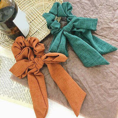 Women  Knotted Bow Scrunchie Ponytail Holder Robber Headband Elastic Hair Ties