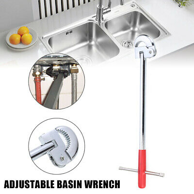 11inch Adjustable Basin Wrench Plumbing Tool Tap Sink Spanner Home Repair Tool