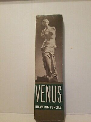 Vintage Venus Drawing Pencils box of 12  3800 2H Hard Unused Unsharpened USA