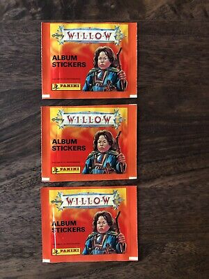 PANINI Willow Sticker 3 Pack Lot SEALED 1988 Italy STICKERS PACKS SUPER RARE!