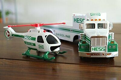 1995 HESS Toy Truck and Helicopter collectible ORIGINAL MIB with box wear
