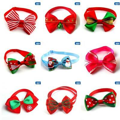 2x Christmas Dog Cat Pet Puppy Bow knot Necktie Collar Bow Tie Clothes Lldty