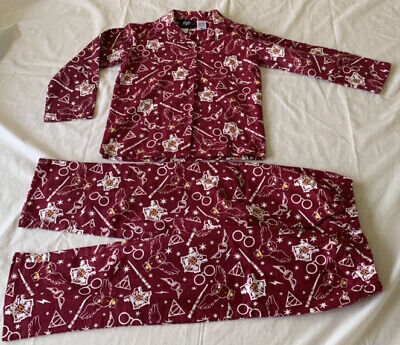 Boys Girls size 8 HARRY POTTER Flannel Burgundy flannelette  pyjamas pjs NEW