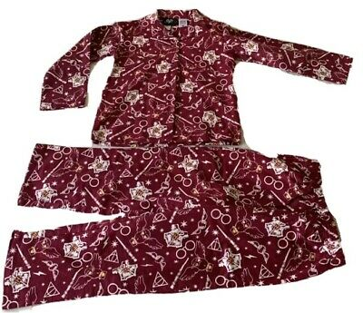 Boys Girls size 7 HARRY POTTER Flannel Burgundy flannelette pyjamas pjs NEW