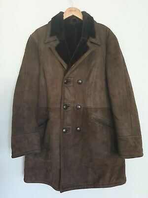 St Michael Marks & Spencer Mens Soft Suede Leather Dark Brown Jacket Size Large