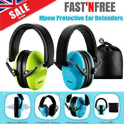Mpow Folding Ear Defenders NRR 25dB Protectors Hearing Safety Kids Baby Ear Muff