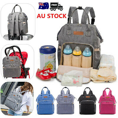 AU Large Multifunctional Diaper Backpack Nappy Baby Mummy Changing Bag Rucksack