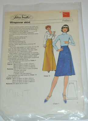 sewing pattern  wrapover skirt simple