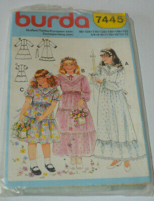 sewing pattern dress childs wedding confirmation holy communion