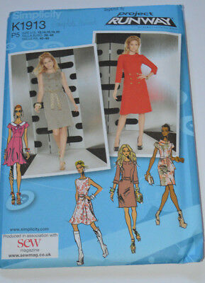 sewing pattern dress  with 60s style button detail