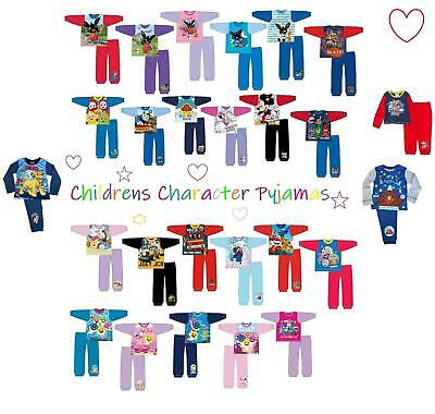 Girls Kids Boys Toddler Pyjamas Character Official Long