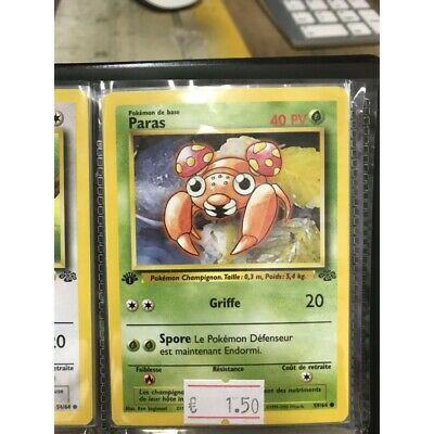 NEUF pokemon carte jungle edition 1 / paras 59/64