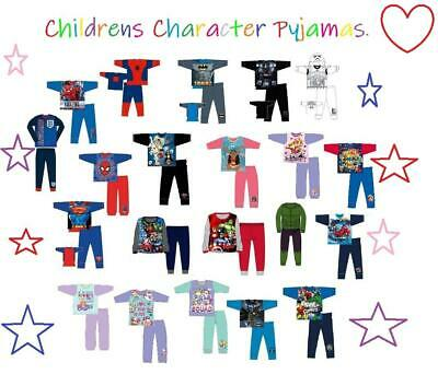 Boys Kids Girls Character Pyjamas Official Pj Set 4-12 Years