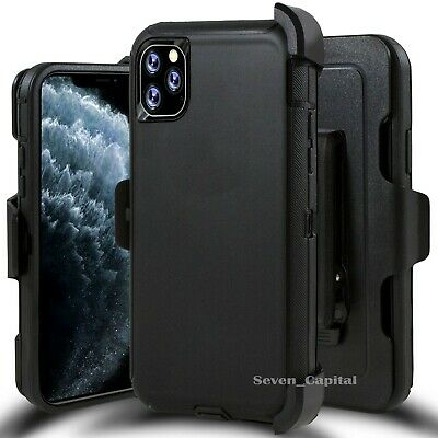 For iPhone 11 11 Pro Max Case w/ Screen & Belt Clip Fits Otterbox Defender Black