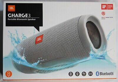 JBL Charge 3 - Water Resistant IPX7 Bluetooth Portable Speaker (grey)