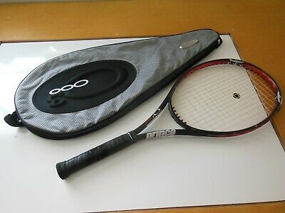 """Prince O3 Red Midplus Tennis Racquet 27.25"""" 1100 Power Level 285 Swing Weight"""