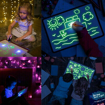 Draw with light fun developing toy drawing board magic draw educational<RDR