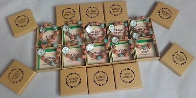 JOB LOT WHOLESALE ARTISAN BEAD BRACELET WATCHES RESALE/ PARTY GIFTS in boxes A10