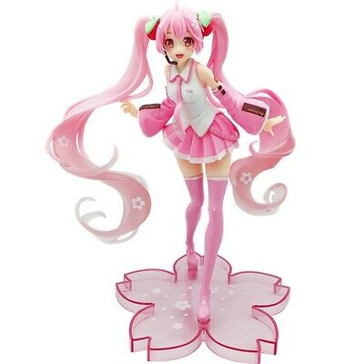 Anime Hatsune Miku Pink Sakura Miku Statue Figure Model Toy Doll Cosplay Lldty