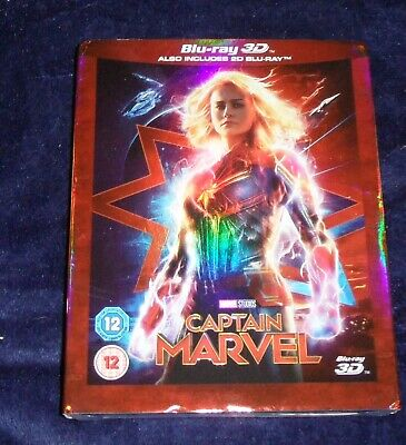 Captain Marvel ~ 3D Blu-ray ~ NEW Sealed