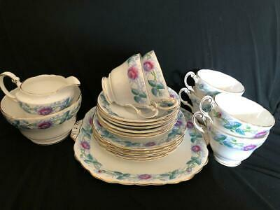 Vintage Victoria  Bone China  Chelsea Hand Painted 21 Items Tea Cups Saucers Etc