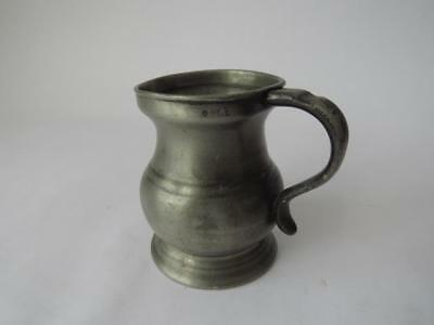 Antique Victorian Pewter Measure - Victorian Measure