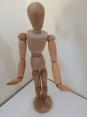 Flexible Wooden Artist Mannequin Doll Painting Art 13 Inch Manikin Dummy