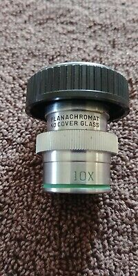 Bausch & Lomb Planachromat 10x Microscope Objective No Cover Glass