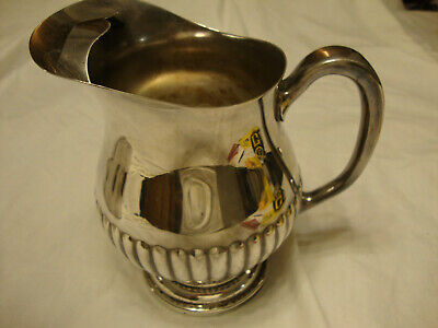 Antique Viking Plate Silverplate Water Pitcher With Ice Catcher Made In Canada