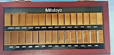"Beautiful Mitutoyo Gauge Block set 516-420-26  .02005"" TO .090"""