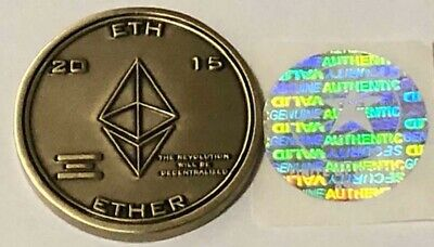 ETHEREUM 2015 Genesis Block Coin  #495 of 500 LIMITED EDITION with Hologram ETH