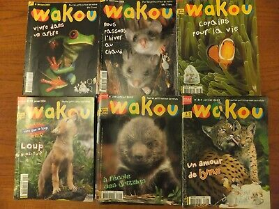 55 French children's magazines Wakou - Job lot - Educative Nature age 3  7 years