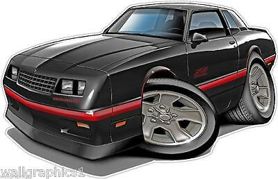 1972 Monte Carlo 350 454  Wall Graphic Decal Cartoon Car Art Man Cave Tools NEW