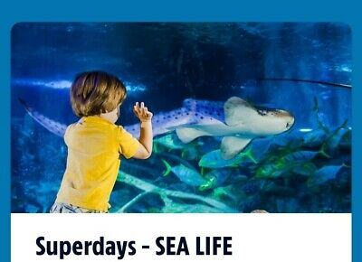 1 Adult/Child Entry Ticket for Sealife Centre London For The 25th November 2019
