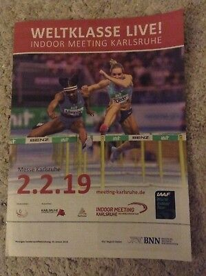 2019 Indoor Meeting Karlsruhe Programme: IAAF: Athletics/Track & Field