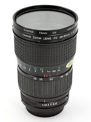 Canon FD 28-85mm f/4 Lens with Macro (has drift in zoom ring)