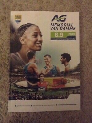 2019 AG Memorial Van Damme Programme: IAAF Diamond League Athletics/Track & Fiel