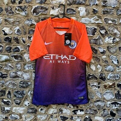Manchester City 2016-17 Third Football Shirt Size S