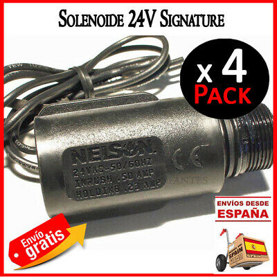 Solenoide 24V para electrovalvulas Signature Nelson. solenoid electrico Pack x4