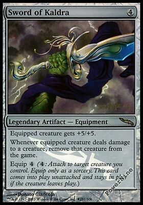 1 PROMO PLAYED FOIL Sword of Kaldra - Artifact Prerelease Mtg Magic Rare 1x x1