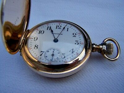 Beautiful working  Antique15 Jewel  Waltham Ladies Hunter Pocket Watch