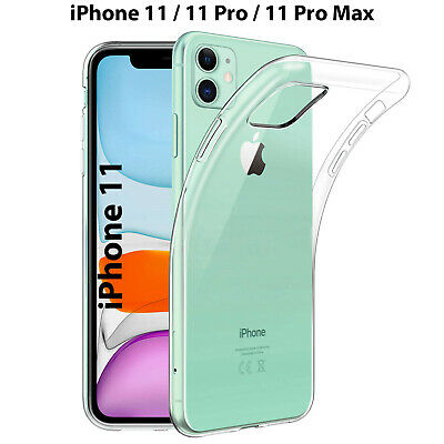 Cover per Apple iPhone 11 Pro Max Trasparente Silicone Custodia Morbida Slim Tpu