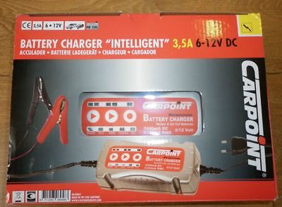 Carpoint Battery Charger Intelligent 3.5A 6/12V - Model 0635860 ** NEW **