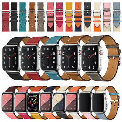 Genuine Leather Band Strap For Apple Watch Series 5 4 3 2 1 44mm 40mm 42mm 40mm